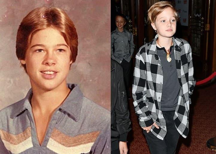 Brad Pitt Shiloh Jolie Pitt Age 12