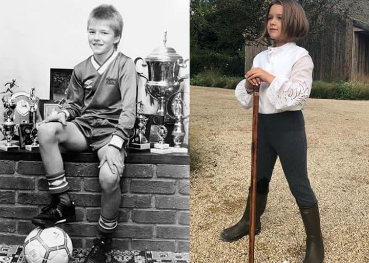 David Beckham Harper Seven Beckham Age 7