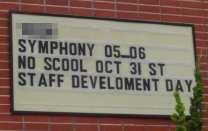A Day For Staff To Learn How To Spell