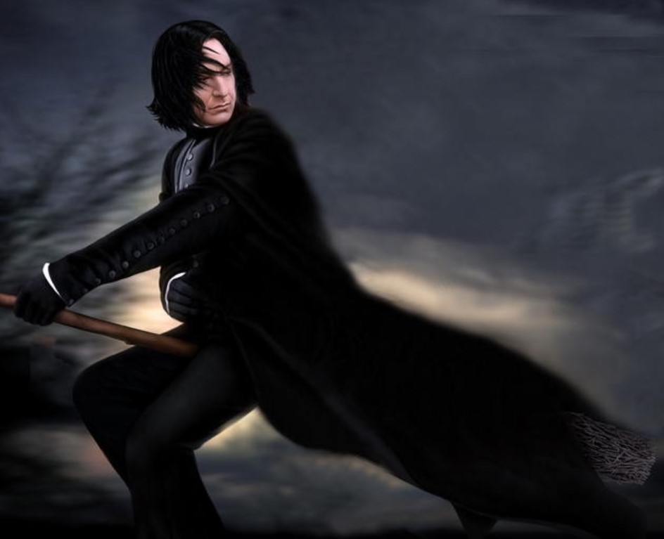 Snape Flew Without The Use Of A Broom