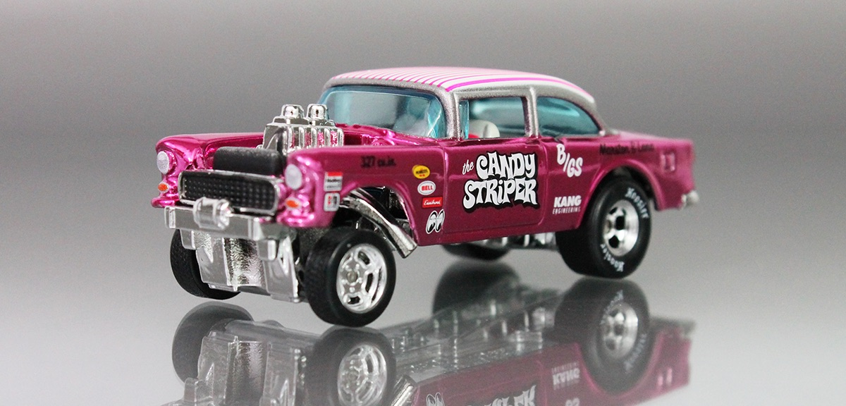 Candy Striper Chevy Bel Air Gasser From 1955