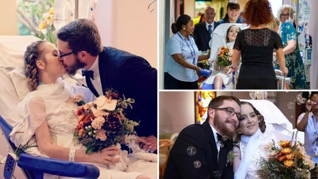 Hastane Yatağında Yaşam Desteğine Ünitesine Bağlıyken Evlenen Bir Annenin Trajik Hikayesi